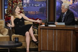 Olivia Wilde visiting the Tonight Show with Jay Leno 2013.12.17.