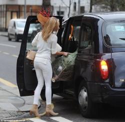 Kimberley Garner - out in London 12/18/13