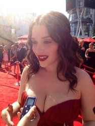 Kat Dennings - Hot Pic From The Emmy Awards in Los Angeles on September 23, 2012