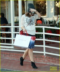Katharine McPhee - out in West Hollywood 12/24/13