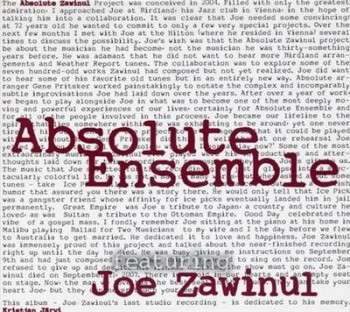 Absolute Ensemble - Absolute Zawinul (2009)
