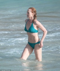 Marg Helgenberger - wearing a bikini in St. Barts 12/30/13