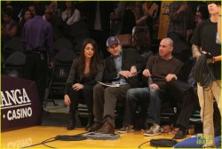 Mila Kunis - Jazz vs Lakers game in LA 1/3/14