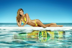 Nina Agdal - Cristal beer Photoshoot