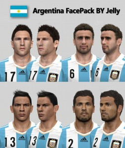 Download Argentina FacePack For PES 14 By Jelly