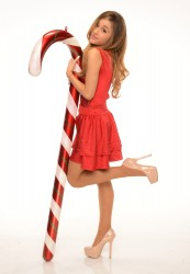 Ariana Grande - Candy Cane Photoshoot