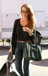 Jessica Alba - at her office in Santa Monica 1/17/14