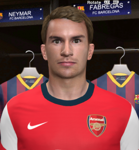 Download Aaron Ramsey PES 2014 Face By DzGeNiO