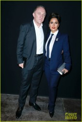 Salma Hayek - Saint Laurent Menswear Fall/Winter 2014-2015 in Paris 1/19/14