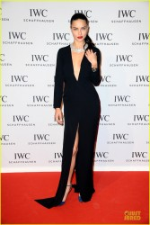 Adriana Lima - IWC Schaffhausen Aquatimer Watch Collection Launch in Switzerland 1/21/14