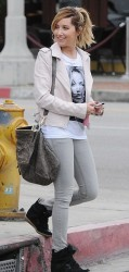Ashley Tisdale - Out in West Hollywood 1/21/14