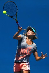 Eugenie Bouchard - practice session in Melbourne 1/22/14