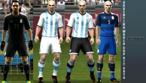 PES 2013 Argentina WC 2014 kit by Pakdhe