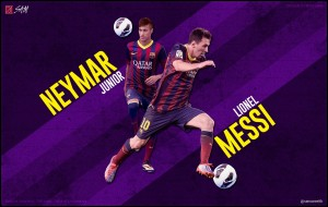 Download PES 2013 Neymar and Messi Start Screen by RomaBoy98