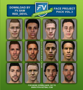 Download FIFA 14 Face Project Pack Vol.3 By Sam_red Devil
