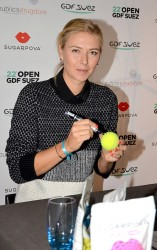 Maria Sharapova - promoting Sugarpova in Paris 1/28/14