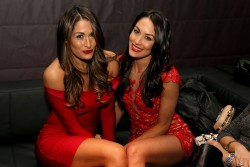 Brie & Nikki Bella - Maxim Big Game Weekend in NYC 1/31/14
