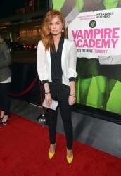 Debby Ryan - Vampire Academy premiere in LA 2/4/14