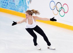 Ashley Wagner - practicing her routine in Sochi 2/5/14