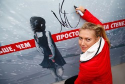 Maria Sharapova - reopening of her hometown tennis court in Sochi 2/5/14
