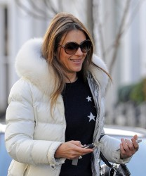 Elizabeth Hurley - out in London 2/5/14