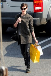 Anne Hathaway - out in Brentwood 2/4/14