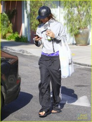 Vanessa Hudgens - Leaving Bed Bath & Beyond in Studio City 2/5/14