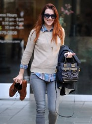 Alyson Hannigan - out in Brentwood 2/5/14