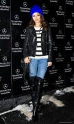 Victoria Justice - Fall 2014 Mercedes - Benz Fashion Week 2/6/14
