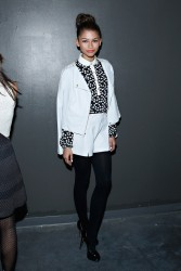 Zendaya Coleman - Charlotte Ronson F/W 2014 Fashion Show in NYC 2/7/14