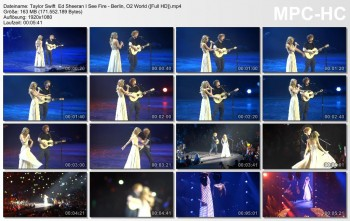 Taylor Swift and Ed Sheeran - I See Fire - Berlin, O2 World 1080p
