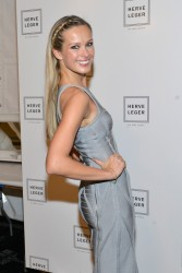 Petra Nemcova - Herve Leger By Max Azria fashion show in NYC 2/8/14