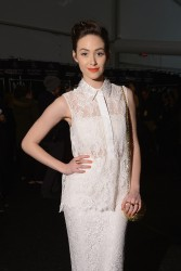 Emmy Rossum - Monique Lhuillier F/W 2014 Fashion Show in NYC 2/8/14