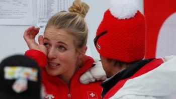 Lara Gut - Tears after her race - hq - x 1