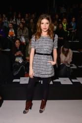 Anna Kendrick - Milly By Michelle Smith fashion show in NYC 2/10/14