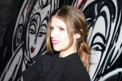 Anna Kendrick - alice + olivia Fall 2014 presentation in NYC 2/10/14
