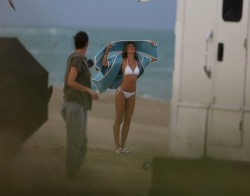 Candice Swanepoel - Marie Claire photoshoot in Miami Beach 2/12/14