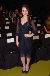 Vanessa Marano - J.Mendel Fashion Show in NYC 2/13/14