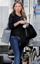 Sofia Vergara - on the set of 'Modern Family' in LA 2/13/14