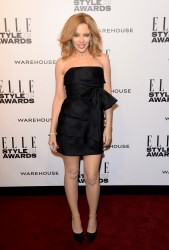 Kylie Minogue - 2014 ELLE Style Awards in London 2/18/14