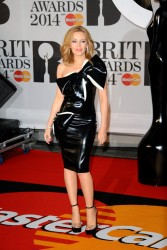 Kylie Minogue - 2014 BRIT Awards in London 2/19/14