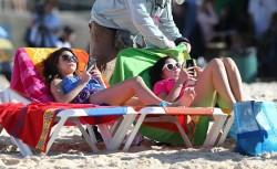 Sarah Hyland and Ariel Winter at Bondi Beach in Australia on February 21, 2014