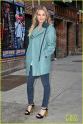 Kaley Cuoco - Arriving to 'The Late Show with David Letterman' in NYC 2/24/14