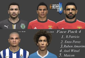 Download PES 2014 Face Pack №4 by miguelrioave