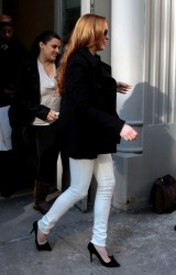 Lindsay Lohan - Out in NYC 3/6/14