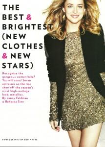 Antiguo Scan de Dakota Johnson en Glamour Magazine Dic.  2010 ahora en UHQ sin marcas!