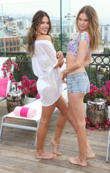 Alessandra Ambrosio & Behati Prinsloo - Victoria's Secret 2014 Swim Collection Press Day in West Hollywood 3/11/14
