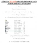 PESJP Patch+OF Winter Transfer 2014 by Medo
