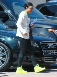 Michelle Rodriguez - Leaving the gym in Santa Monica 3/12/14