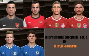 Download PES 2014 International Facepack vol.1 by dr.hosam